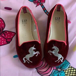 Little girl velvet  shoes from gap